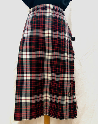 Vintage Red Plaid Kilt (S) - HOB Boutique