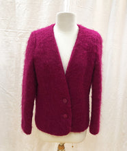 Load image into Gallery viewer, Fuchsia Mohair Jacket - HOB Boutique