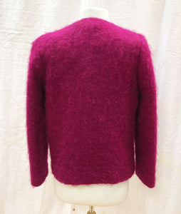 Fuchsia Mohair Jacket - HOB Boutique