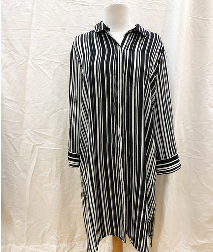 Grace Striped Shirt (L) - HOB Boutique