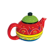 Load image into Gallery viewer, Tea Time - Ceramic Teapot with Sweets
