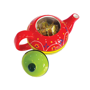 Tea Time - Ceramic Teapot with Sweets