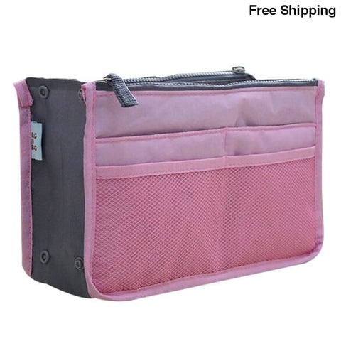 Coofit Organizer Insert Bag for Women - Pink