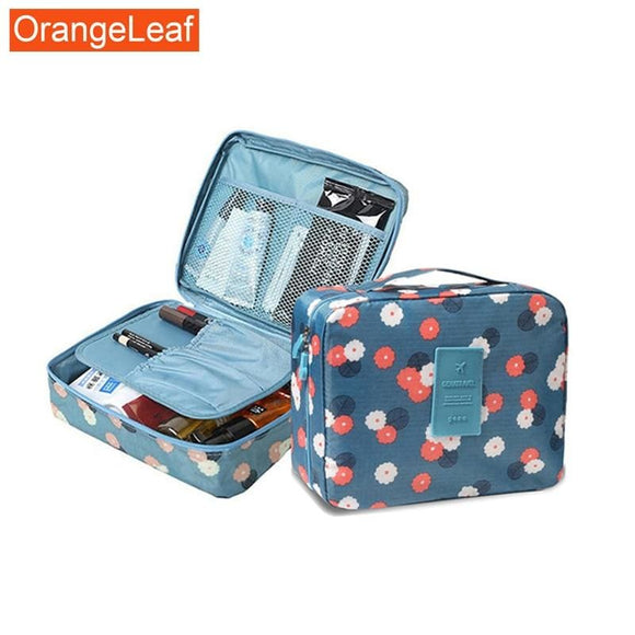 ORANGE LEAF Makeup bag
