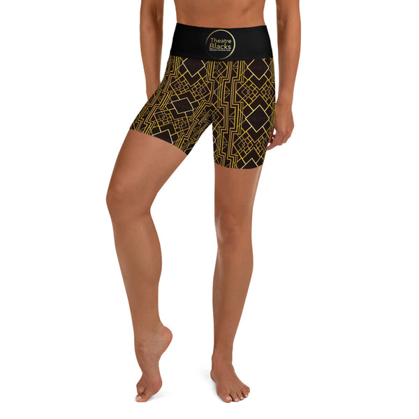Art Deco High Waist Shorts