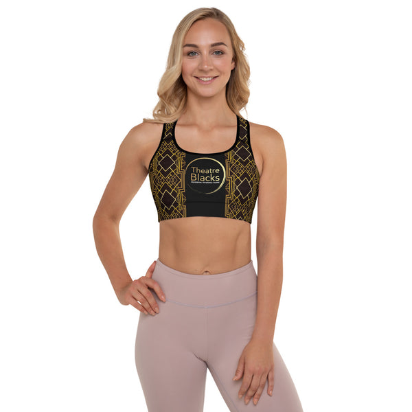 Art Deco Sports Bra (Removable Padding - Max Support)