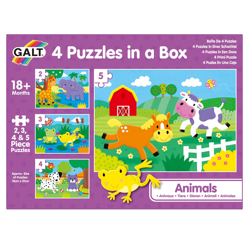 4 Puzzles in a Box - Animals