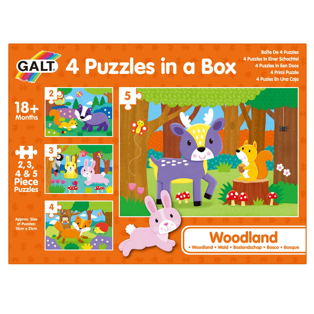 4 Puzzles in a Box - Woodland