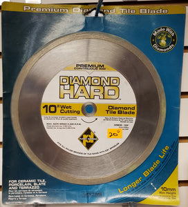 "Planet Diamond 21510020H 10"" Premium Continuos Rim Diamond Tile Saw Blade"