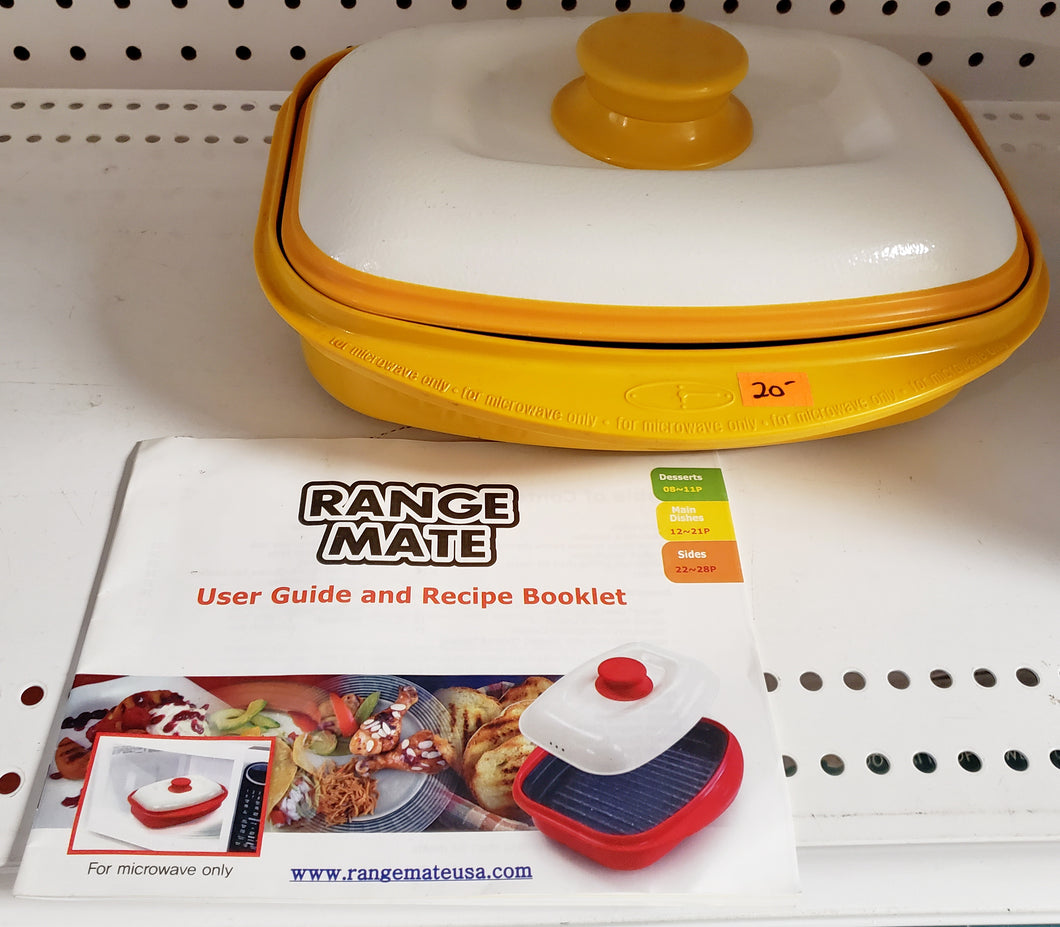 Range Mate Nonstick Microwave Grill - Yellow