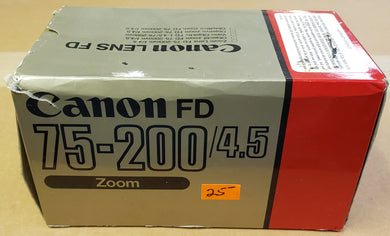 Canon FD 75-200/4.5 Zoom Camera Lens