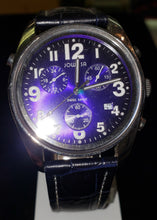 Load image into Gallery viewer, Jowissa J7.007.L Men's Ginebra Blue Dial Chronograph Leather Watch