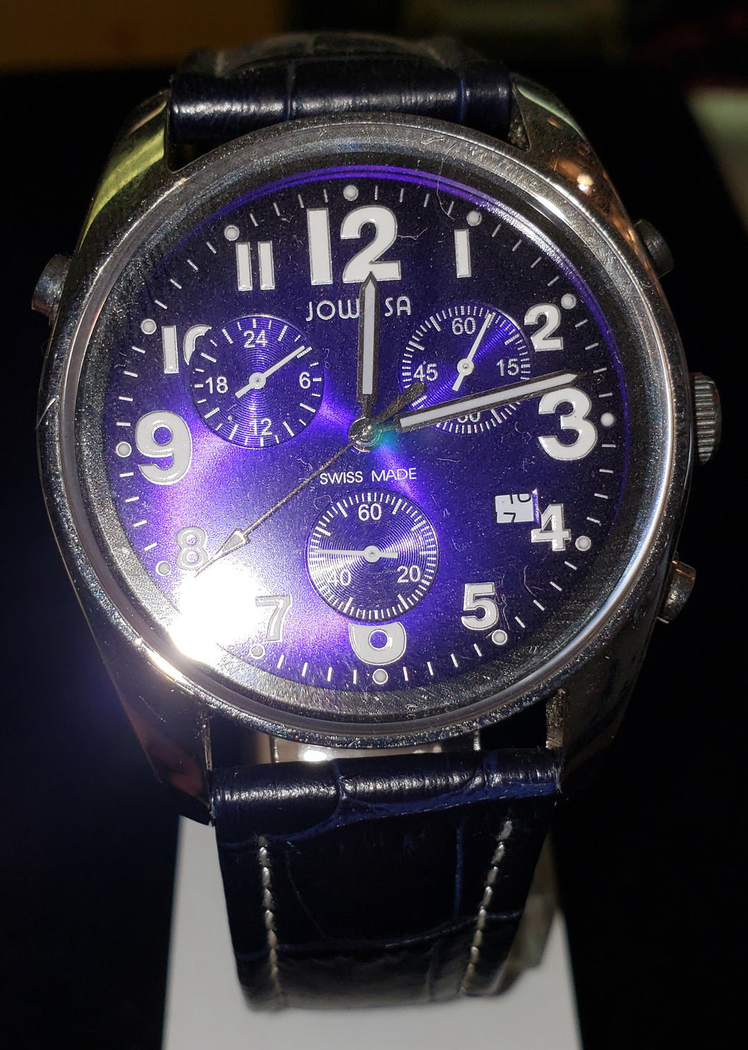 Jowissa J7.007.L Men's Ginebra Blue Dial Chronograph Leather Watch