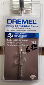 Dremel 664DR 2-Piece Diamond Grit Cutting Bits