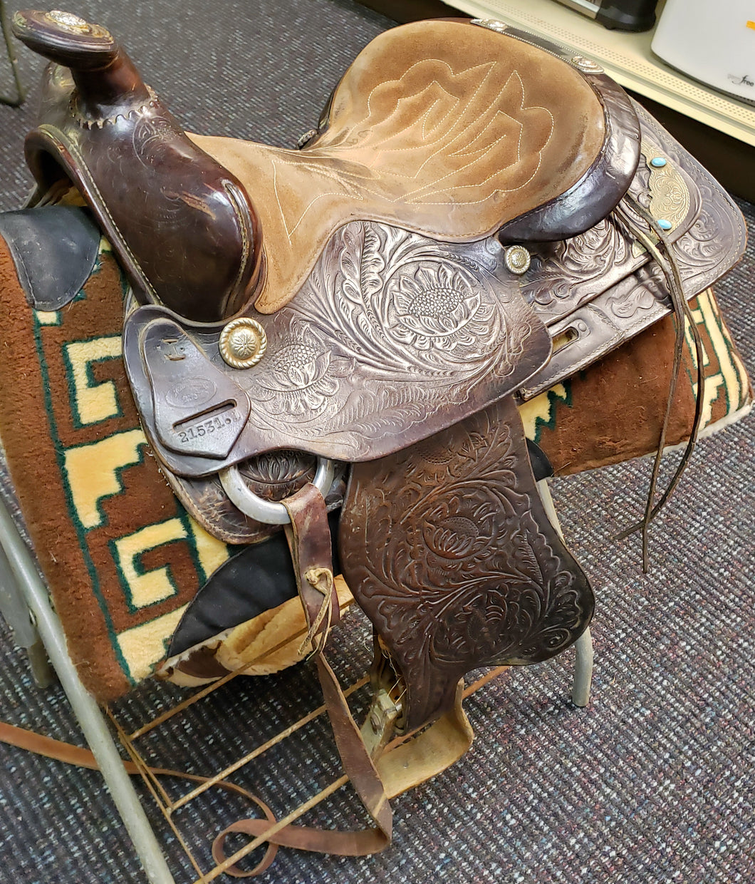 Action Company 21531.1 W926 Texas Trail Horse Saddle