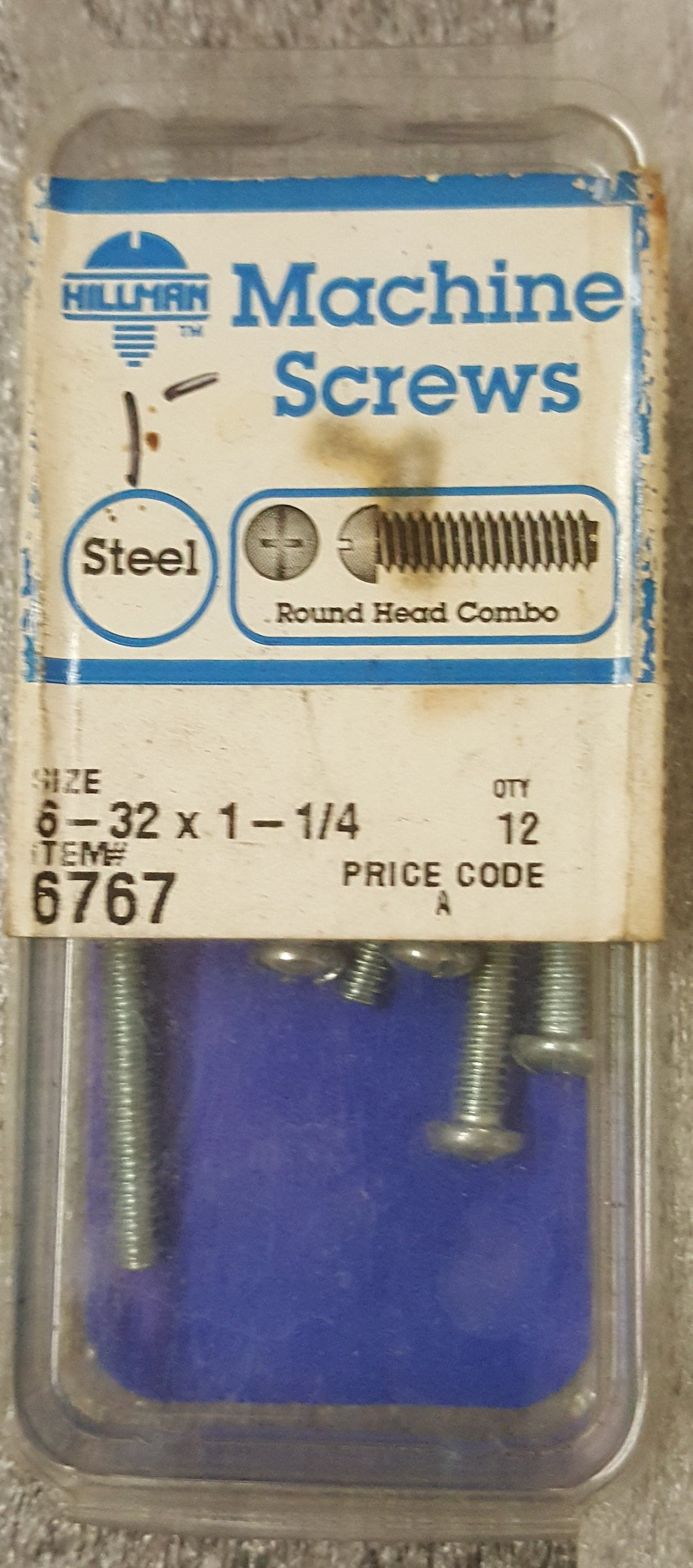 The Hillman Group 6767 Round Head Combo Machine Screw 12-Pack