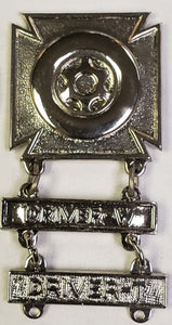 US Army Driver and Mechanic Badge with Driver-W (wheeled) and Driver-T (tracked) Medal