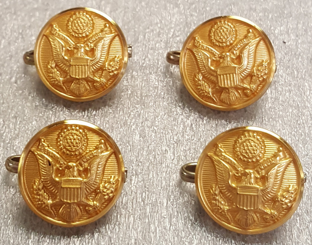 Lot of 4 US Army Eagle Chesire Buttons