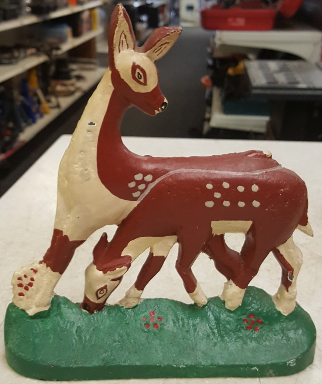 Ashley Belle Metal Deer Door Stop