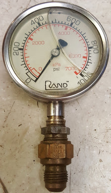 Vintage Rand 7000 kPa / 1000 PSI Liquid Filled Gauge
