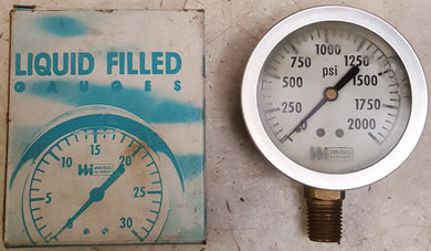 Weiss Instruments LF25S-1 2000 PSI Liquid Filled Gauge
