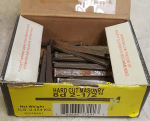 Grip-Rite 8CUTMAS1 #10 x 2-1/2 in. 8-Penny Steel Cut Masonry Nails (1 lb.-Pack)