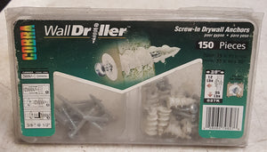 Cobra 027K WallDriller #6 Nylon Anchors with Screws Partial Kit