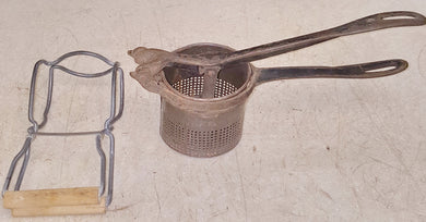 Vintage Arctic No. 2 Cast Iron Hand Press Potato Ricer