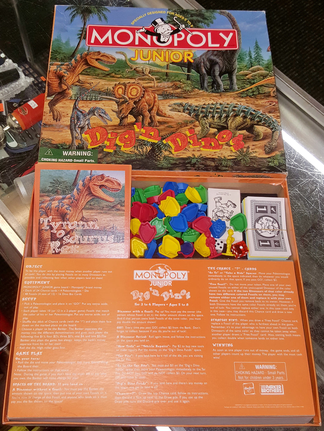 1998 Monopoly Junior Dig 'N Dinos Board Game