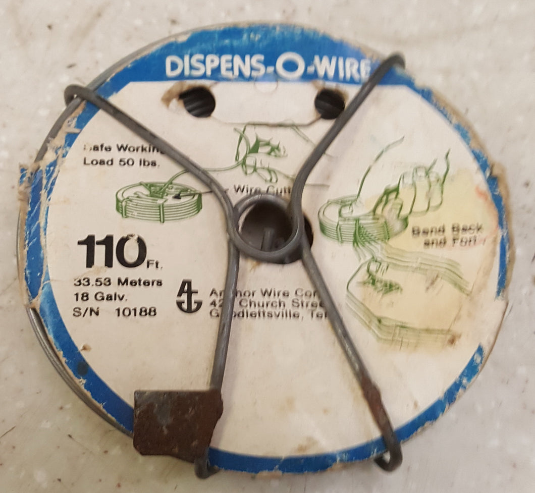 Dispens-O-Wire 18-Gauge 110' 50 lb Galvanized Wire Spool