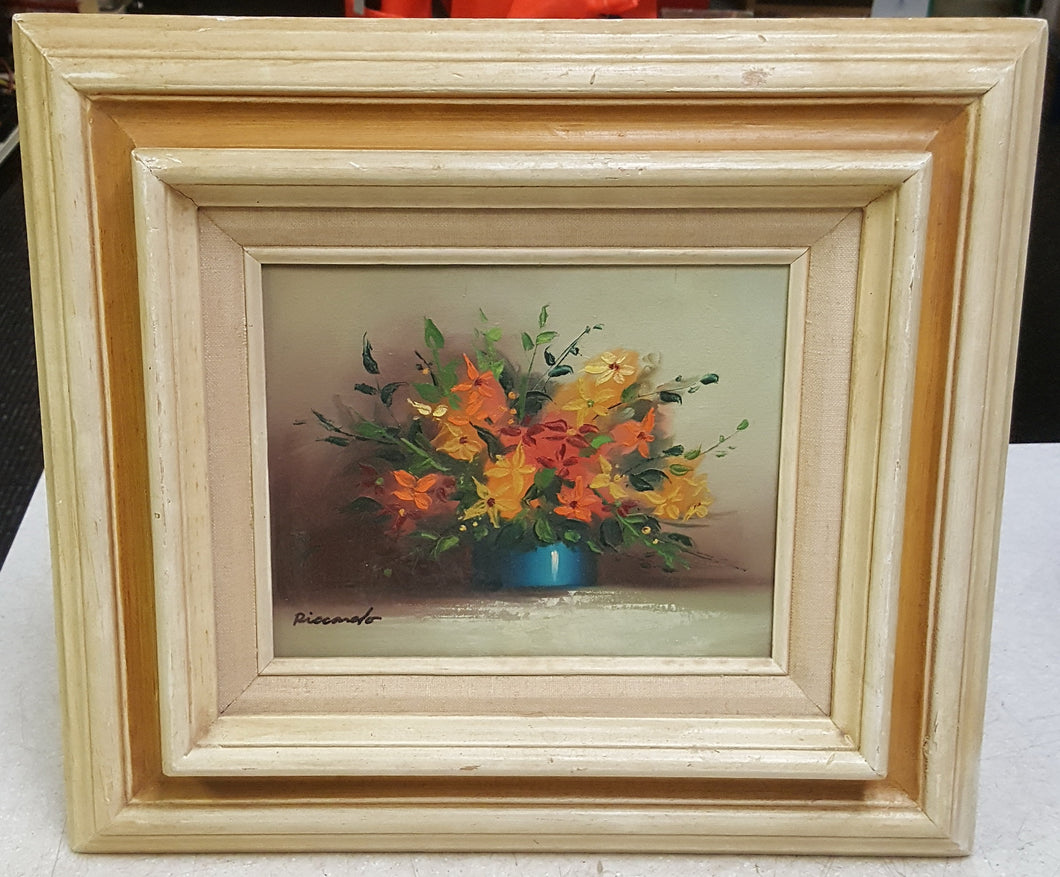 Framed Floral Array Painting by Piccardo