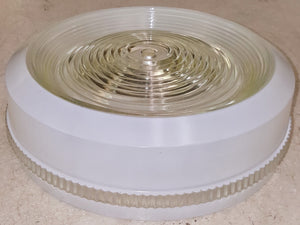 "10"" x 3-3/8"" Glass Light Fixture Flush-Mount Shade"