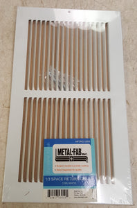 "Metal-Fab MF3RG126W 12""x6"" 1/3 Space Return Grille - White"