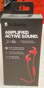 Skullcandy Jib+ Active Wireless BT Earbuds with Microphone - Red