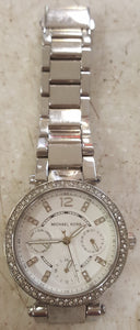 Michael Kors MK-5615 Parker Multi-Function Silver Dial Ladies Watch - Silver