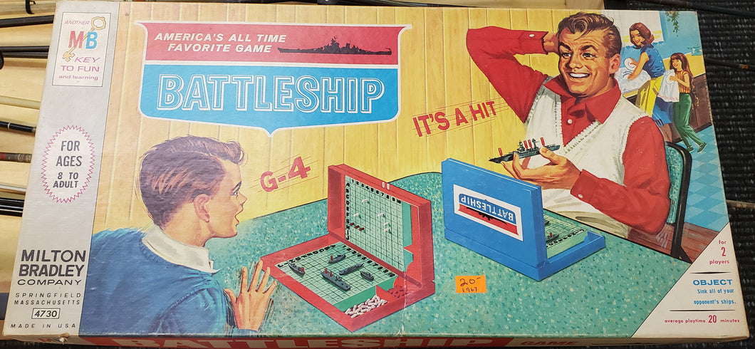 1967 MB Battleship Board Game