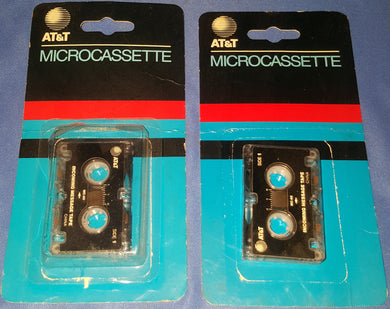 NEW Lot of 2 Vintage AT&T Microcassette Answering Machine Tape