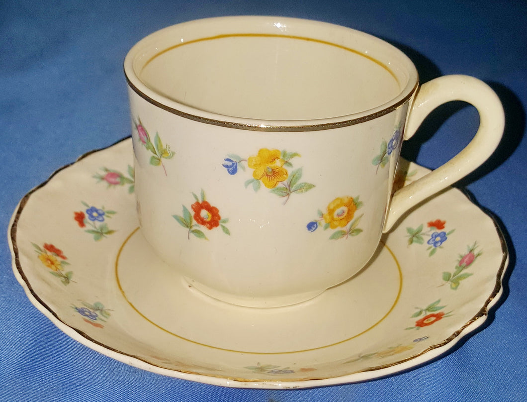 Vintage Radisson W. S. George 1698 Gold Trim Cup and Saucer
