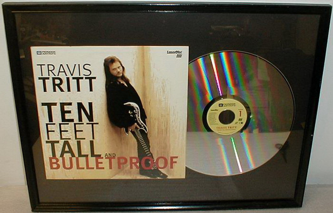 Travis Tritt Ten Feet Tall and Bulletproof Pioneer Artists Framed Laser Disc