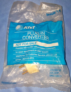 NEW AT&T 4-Prong to RJ11 Plug-In Converter