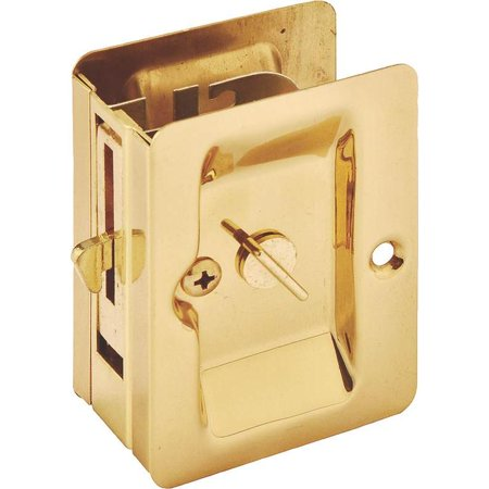 Mintcraft 101-0677 Polished Brass Privacy Pocket Door Latch (2-1/4