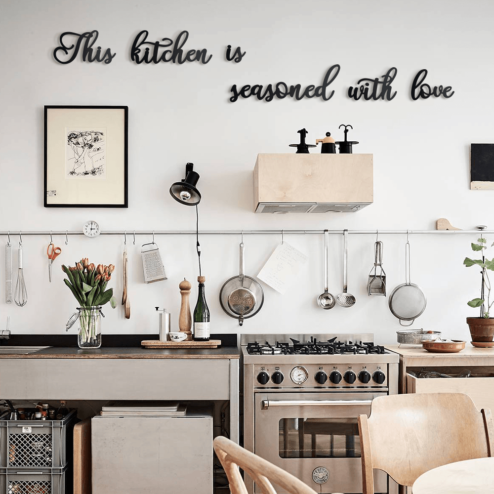 This Kitchen Is Seasoned With Love Metal Wall Decor Decorany
