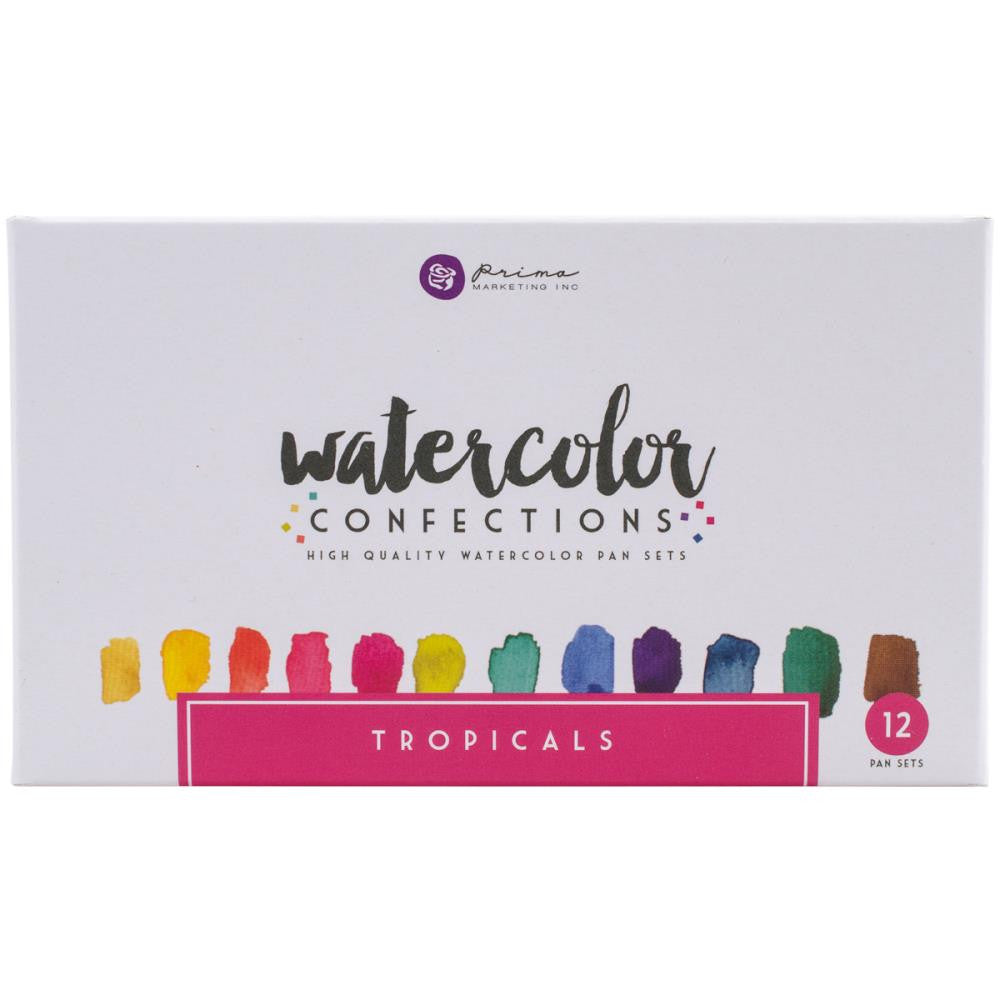 Prima Watercolor Confections Watercolor Pans | Tropicals 12/Pkg