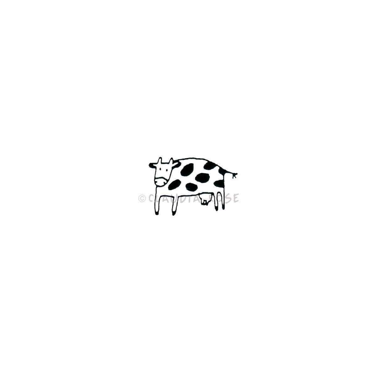Claudia Rose | CR565B - Spotted Cow (small) - Rubber Art Stamp
