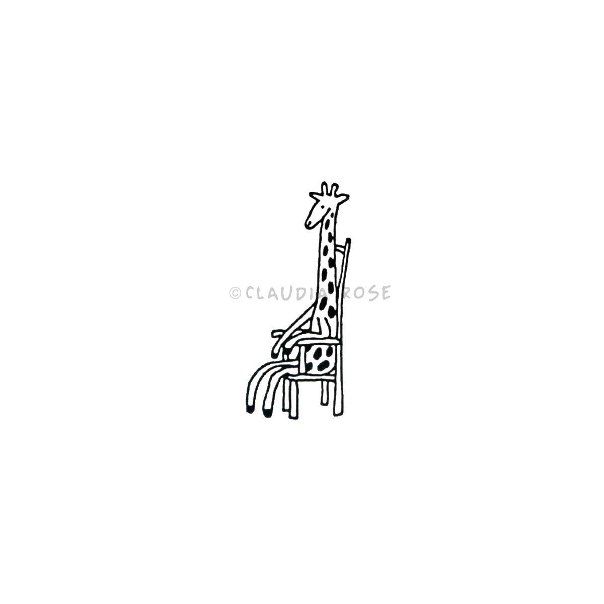 Claudia Rose | CR3515D - Anita Giraffe - Rubber Art Stamp