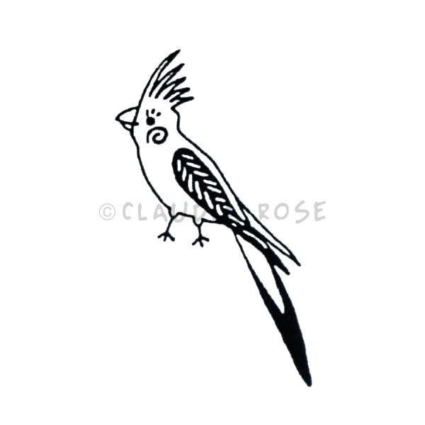 Claudia Rose | CR5111C - Sophie the Cockatiel - Rubber Art Stamp