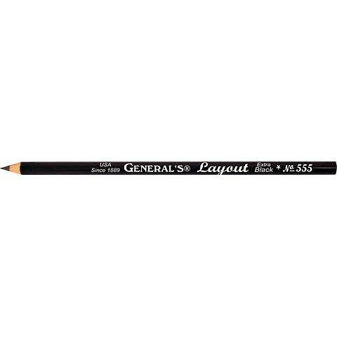 General's | Layout Pencil No. 555 - Extra Black