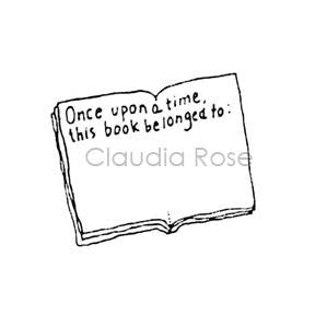 Claudia Rose | CR208D - Bookplate - Rubber Art Stamp