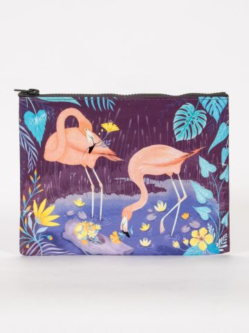 Blue Q | Flamingos Zipper Pouch