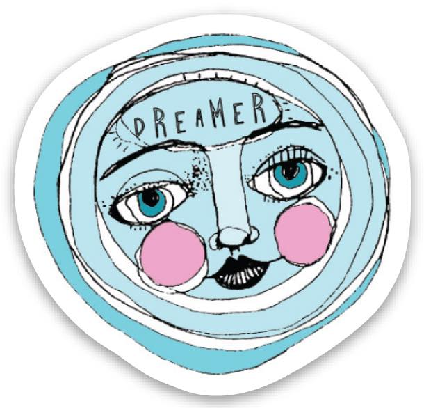 Limited Edition Dreamer Moon Sticker